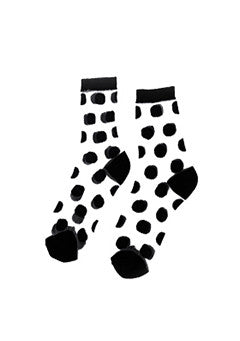 Dots See-Through Socks