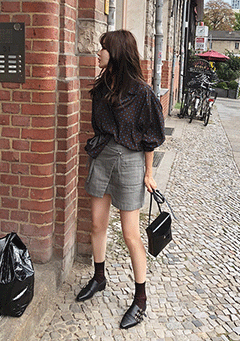 Berlin Travel Draped Skirt