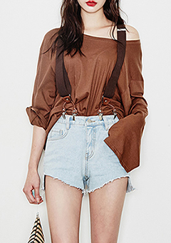 Silky Touching Shoulder Tee