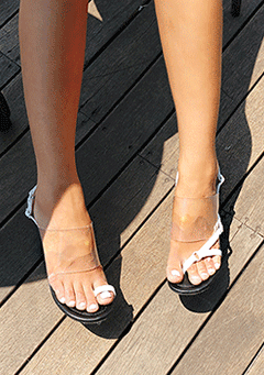 You Are Enough Transparent Heels