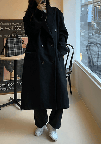 Sunset Button Long Coat
