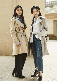 Manish Double Trench Coat