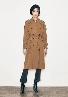 Volume Double Trench Coat