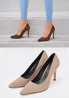Suede High Heel