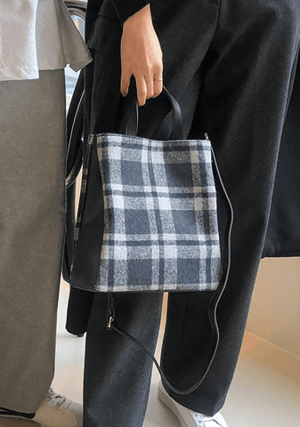 Checkered Mix Square Bag