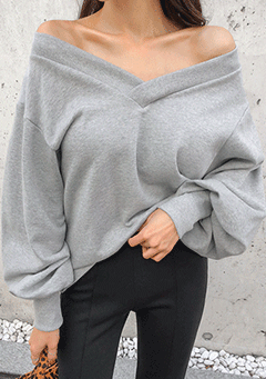 Back At One Off Shoulder Sweatshirt