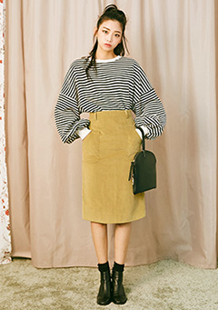 When in Vienna H-Line Midi Skirt