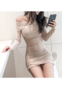 Loana Off Shoulder Bodycon Dress