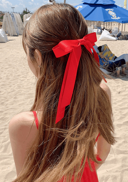 Lovely Lady Red Ribbon Hairpin