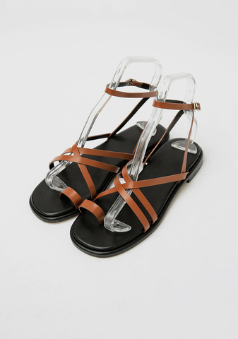 Maze Of Crossed Straps Sandals