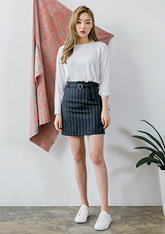 Stripy A-Line Skirt