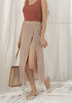 Chiffon Slit Long Skirt
