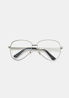 Silver Metal Unique Glasses