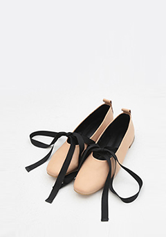 Ribbon Strap Ballerinas