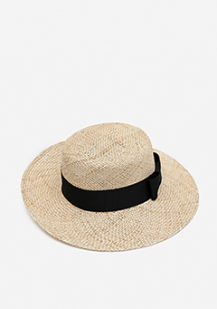 Tiny Black Ribbon Fedora