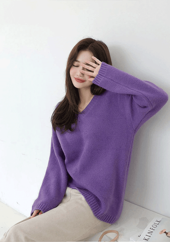 Rainbow Basic Knit