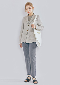 Herringbone Linen Jacket
