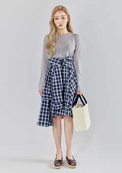 Widening Check Shirt Skirt