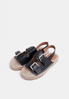 Two-Buckle Strap Sandals