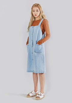 Denim Pocket Dress