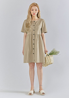 Maple Button Oversized Dress