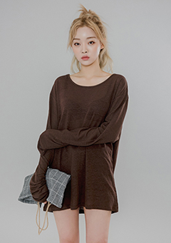 Linen Loose Basic Long Sleeves