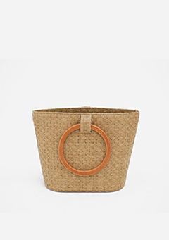 Wooden Ring Hand Bag