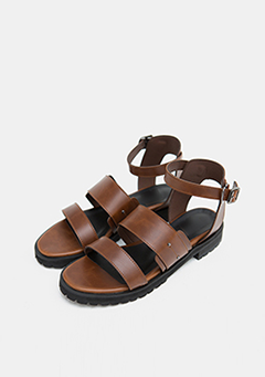 Leather Strap Basic Casual Sandals