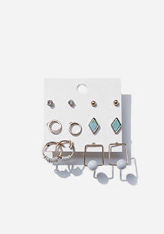 6-Piece Layered Earrings Set