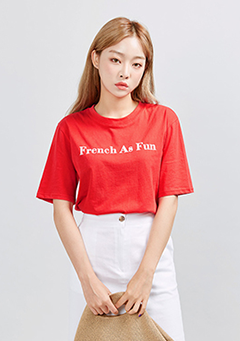 French As Fun Printed T-Shirt