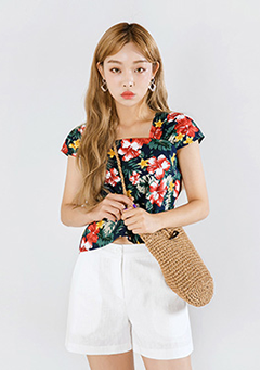 Hawaiian Flower Blouse