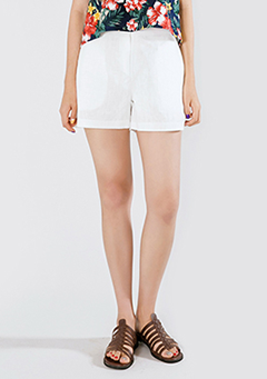 Linen In Basic Shorts
