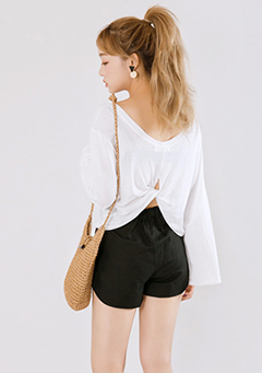 Back Knot Loose Tee
