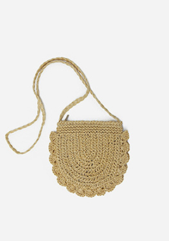 Raffia Cross Bag
