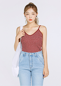 Striped V-Neck Camisole