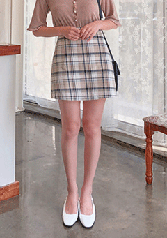 My Everything Checkered Mini Skirt