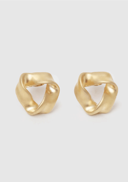 Wavy Triangle Earrings