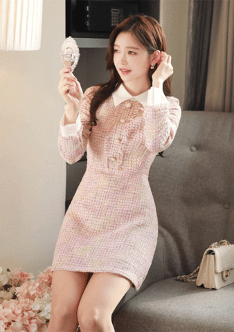 Ballet Slipper Tweed Dress