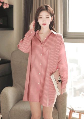 Bubblegum Punch Stripes Shirt Dress