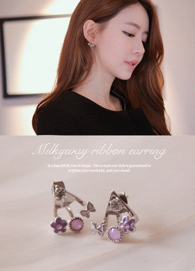 BUBBLE N CHIC<BR>Milkyway Ribbon Earring