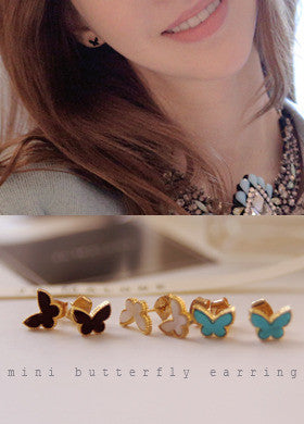 BUBBLE N CHIC<BR>Mini Butterfly Earring