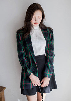 JK Old Chest Of Plaid Jacket