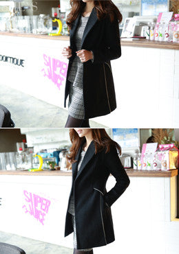 FIONA<BR>Midnight Black Coat
