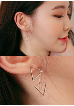 Paired Triangle Earrings