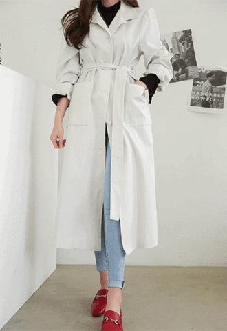 Single-Breasted Midaxi Trench Coat