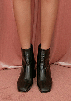 So Glossy Block Heeled Boots