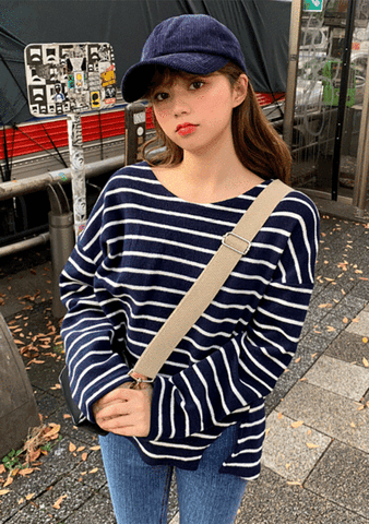 Loose Fit Warmth Stripe Tee