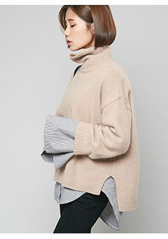 Side-Cut Angora Pola Knit