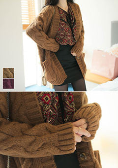 Thick Twist Cardigan