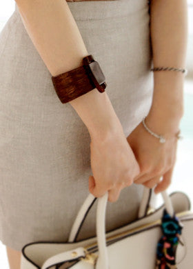 Wood Buckle Bangle